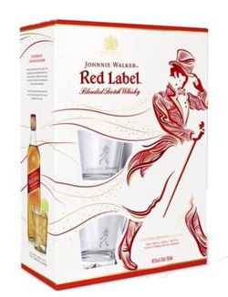 Johnnie Walker Red Label 0,7l 40% + 2x sklo GB